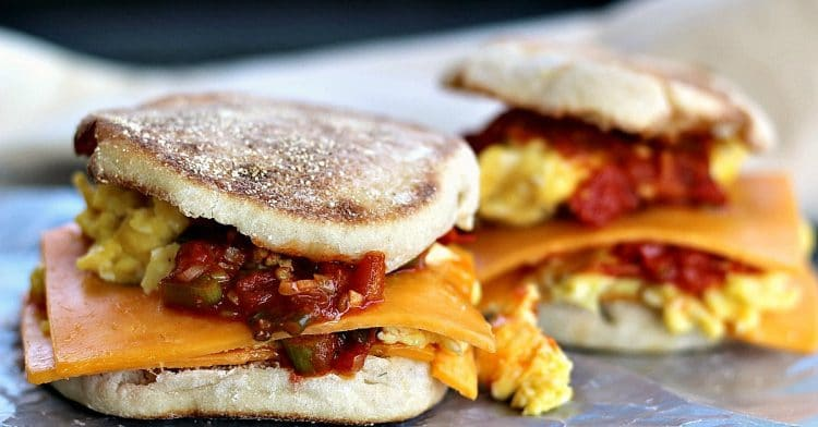 Cheesy Egg Sandwich with Smoked Scallion Sauce • Must Love ...