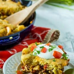 Take your flavor south of the border with this Easy Taco Pasta Casserole. With 8 ingredients and 45 minutes you'll have a tasty meal your family will love!