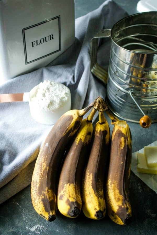 Ripe Bananas for muffin recipe