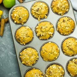 Moist and tender with chunks of banana throughout, these Banana Nut Muffins are always a hit for breakfast or brunch.