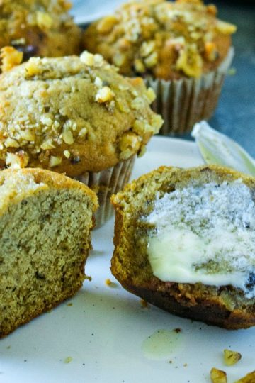Banana Muffin with butter
