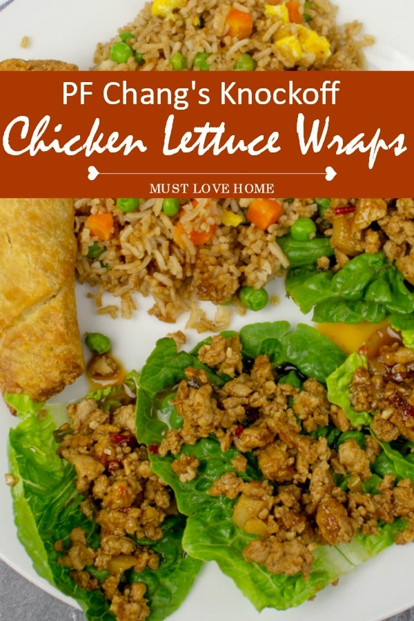 PF Changs Knockoff Lettuce Wraps -  perfectly seasoned chicken that tastes just like the original!