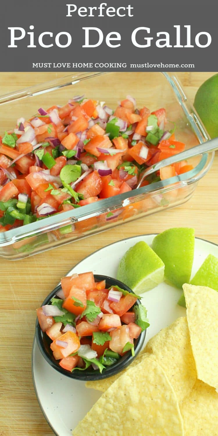 Pico De Gallo ~ a cool combination of tomatoes, jalapeno, onion, lime and cilantro - a southwest flavor favorite that only takes minutes to make!