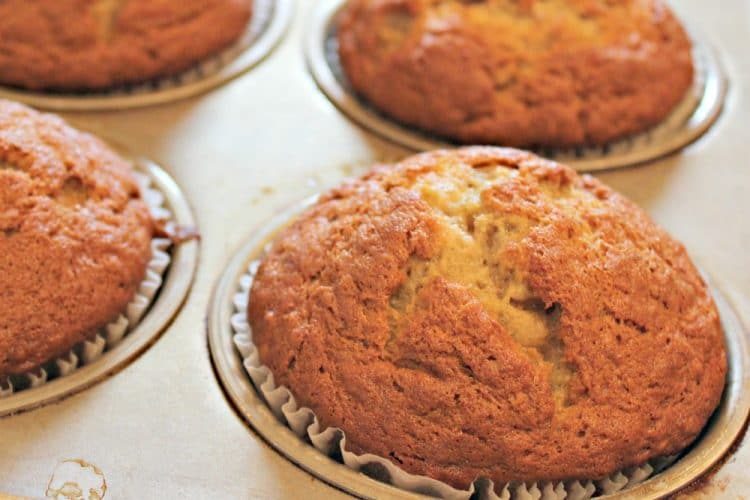 Maple Glazed Banana Muffins