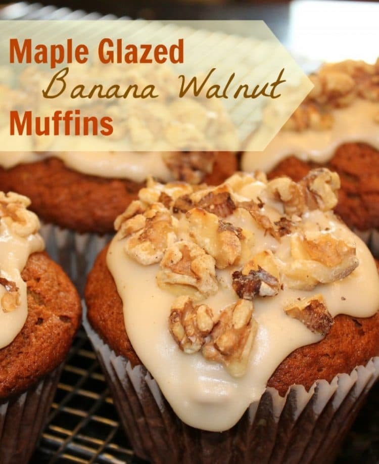 Maple Glazed Banana Muffins