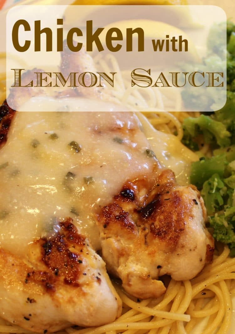 You will love this AMAZING recipe for Chicken with a creamy lemon sauce. Pan seared juicy chicken is topped with a frothy light lemon sauce flavored with chives! This recipe proves that you can have Bistro flavor from your own kitchen! Try this tonight and see for yourself!