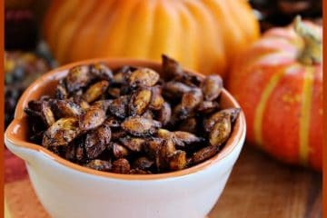 Love Pumpkin Seeds? Then you will just go crazy for these Spicy Squash Seeds! They are so so spicy good and crispy! 4 ingredients and 15 minutes and you are snacking!