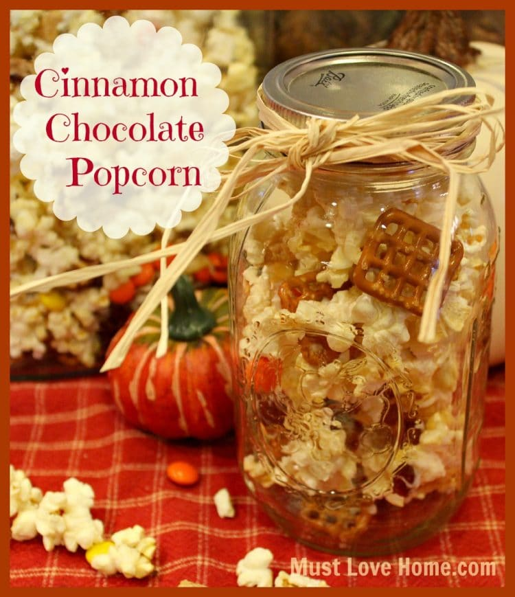 If you love popcorn, you will fall madly for the mouthwatering taste of Cinnamon Chocolate Popcorn. Fragrant cinnamon combined with the sweet smooth chocolate is such a tasty treat that you will not be able to stop munching this AMAZING popcorn.