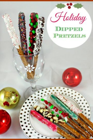 If you love the flavors of sweet and salty together, try dipped pretzels. After you dip them, use your imagination to sprinkle on more flavor with coconut, candies or nuts. They are simple to make, are completely addictive, and are perfect as gifts! Your friends will love them!