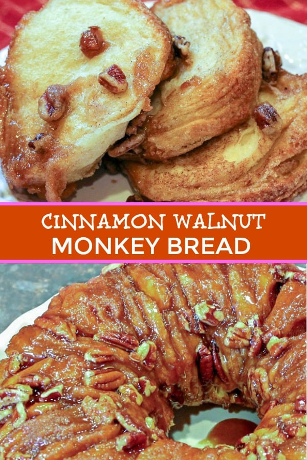 Cinnamon Walnut Monkey Bread is great for breakfast or brunch! Follow the step by step instructions.