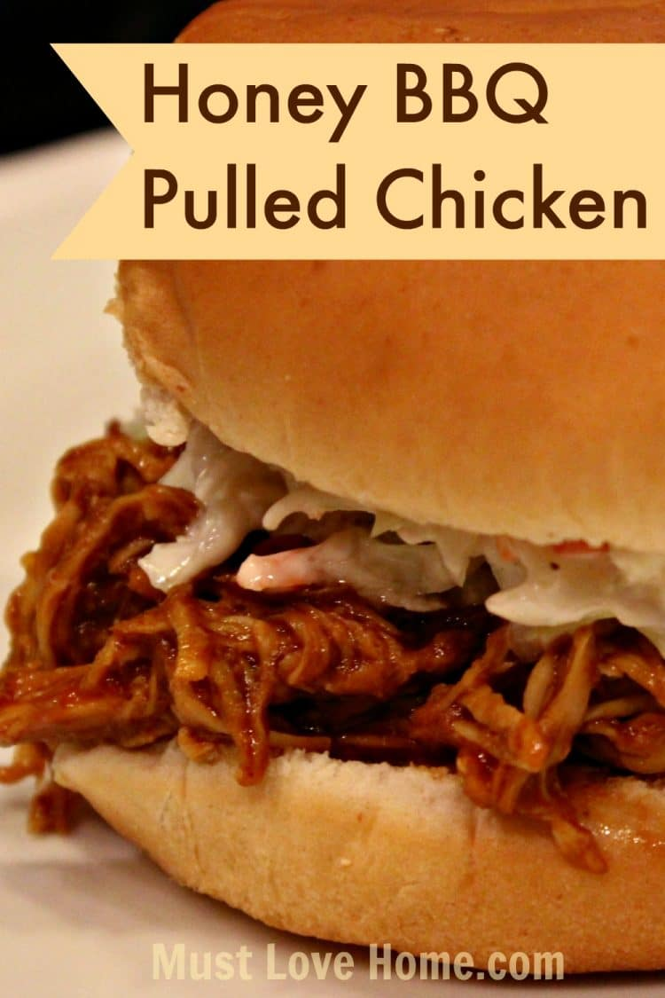This is the Best Slow Cooker Pulled BBQ Chicken! Fall-apart tender, juicy and delicious! The flavor will make you want to keep coming back for more! | mustlovehome.com
