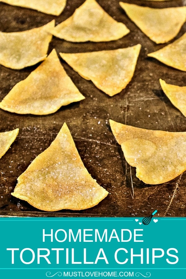 Super crispy Homemade Tortilla Chips made in only 15 minutes and with two pantry ingredients!