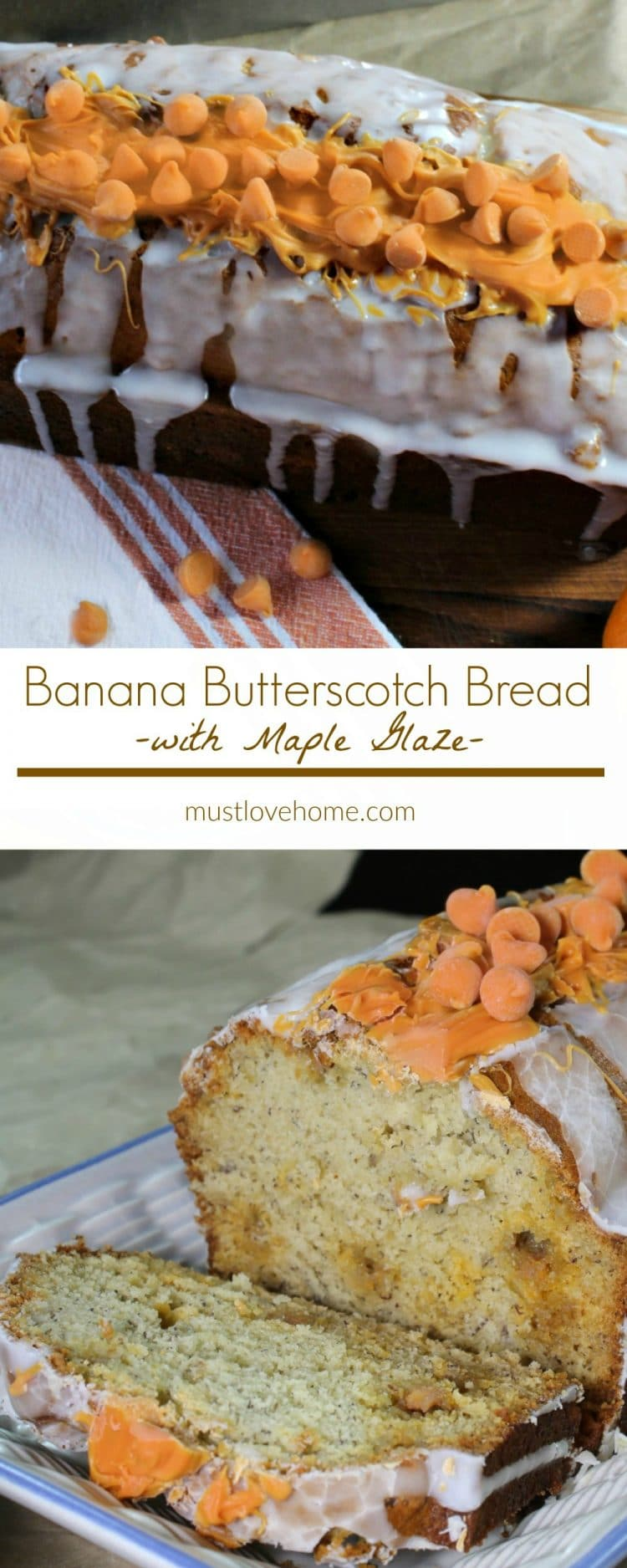 Moist and delicious, this Banana Bread is brimming with natural banana flavor and sweet butterscotch morsels. It is an easy recipe classic that your family will love. Bake a batch today in your own kitchen!