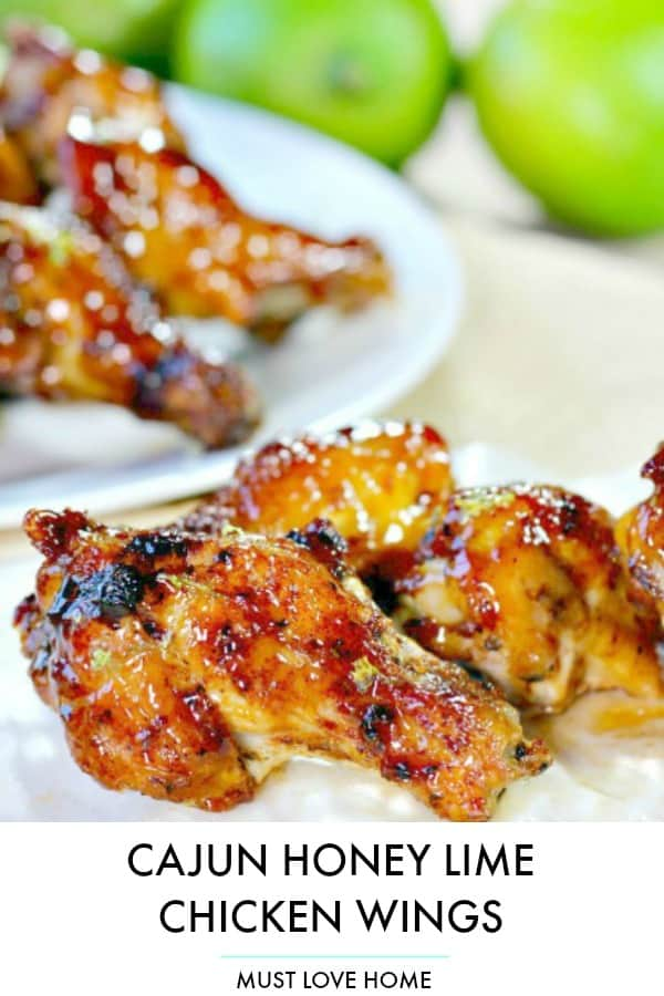 Citrus and spicy, with a hint of honey, these Cajun Honey Lime Chicken Wings may change the way you flavor your wings forever. The wings are oven baked and basted with an amazing sauce that will make these wings a crowd favorite.
