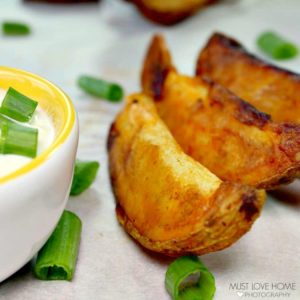 A new twist on an old favorite, these Crispy Buffalo Potato Wedges will add zip and zest to any meal using only four ingredients.