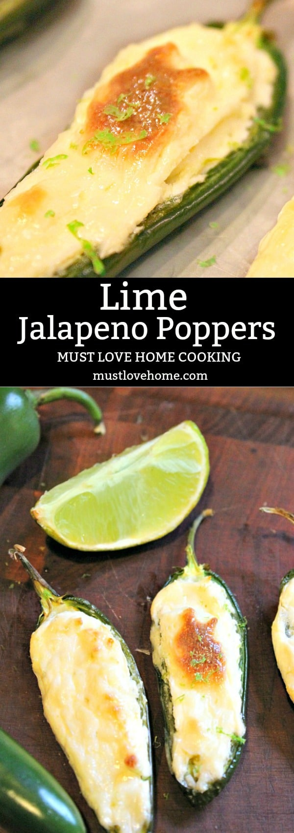 Lime Jalapeno Poppers - baked rather than deep fried with a pop of lime.