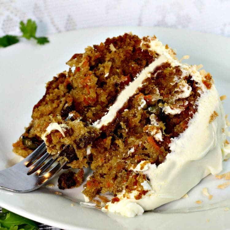 Carrot Cake With Walnuts And Coconut
