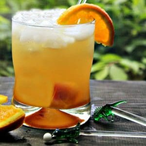 An Orange Ginger Rummy is a simple blend of rum, orange simple syrup and ginger ale - easy to make but tastes so smooth you will think you are being served in a fancy club.