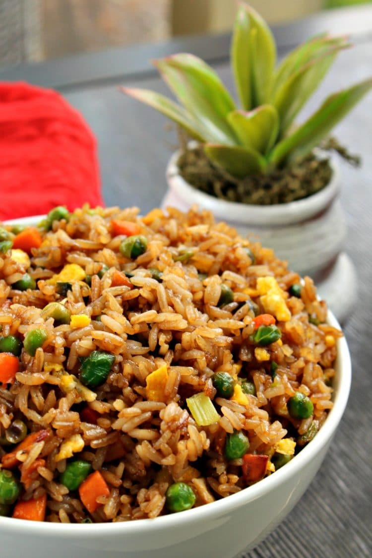 Easy Fried Rice is take-out style rice with loads of flavor that you can make yourself in just minutes!