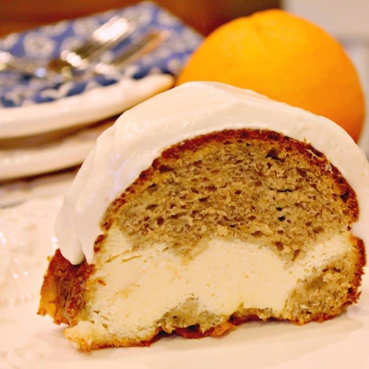 Banana Bundt Cake With Cream Cheese Filling