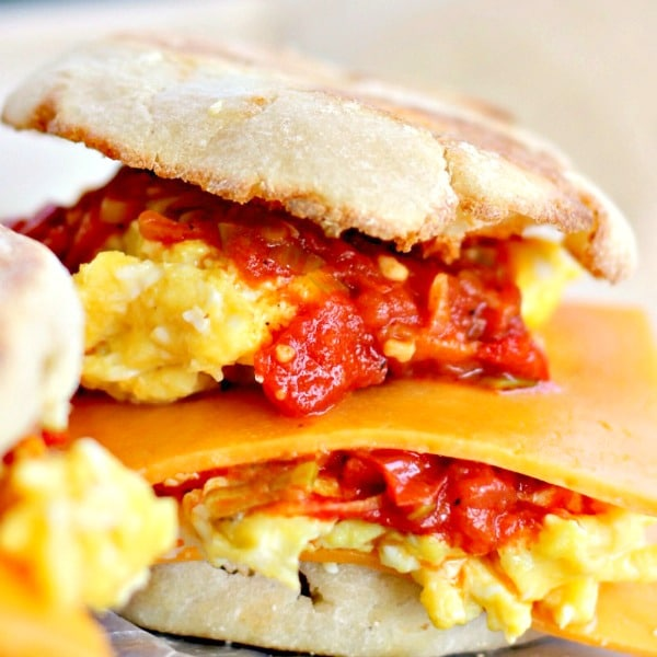 Cheesy Egg Sandwich with Smoked Scallion Sauce