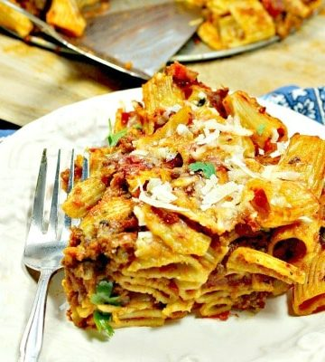 Pork Rigatoni Bake recipe