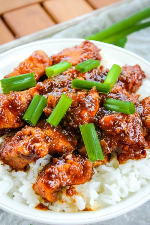 Slow Cooker General Tso Chicken is a favorite Chinese take out dish that is crazy easy to make at home and this tastes even better!