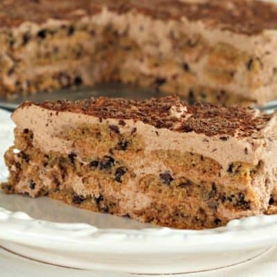 Chocolate Chip Cookie Ice Box Cake