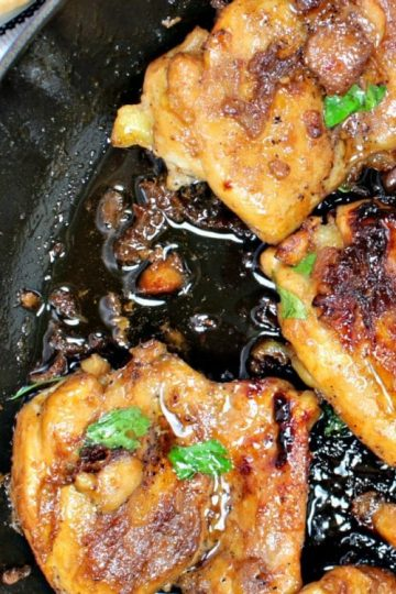 Sweet and Soy Chicken is pan seared chicken that is drenched in a thick, sweet and salty glaze. It is an easy 30 minute recipe that will make everyone a fan!
