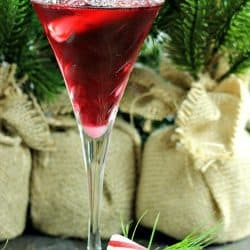 Surprise your guests by serving them a festive Pretty In Pink Martini made with vanilla vodka, Peppermint Schnapps and Pomegranate cocktail mixer. Garnish with a peppermint stick for extra cheer!