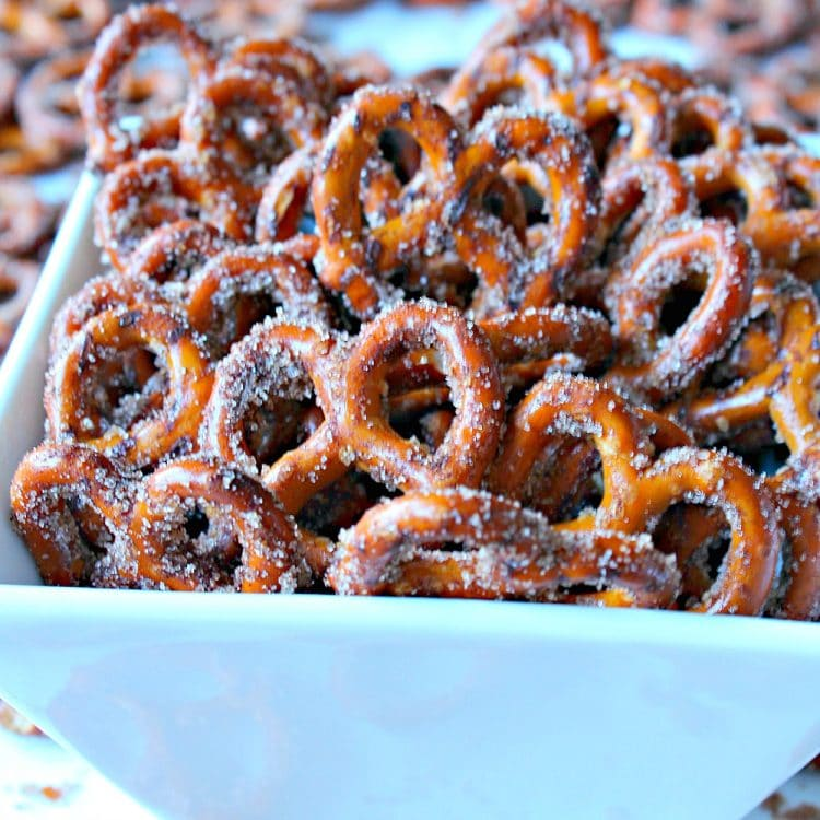 So Irresistible Cinnamon Sugar Pretzels use just four ingredients to take your average pretzel to a new snacking level. Set out a bowl of these and watch them disappear!