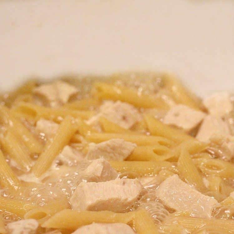 Chicken Cordon Bleu Penne Pasta