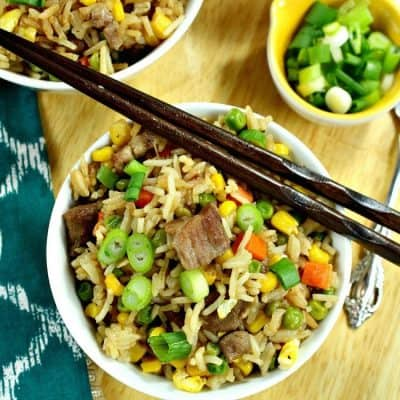 Pork and Vegetable Ponzu Fried Rice