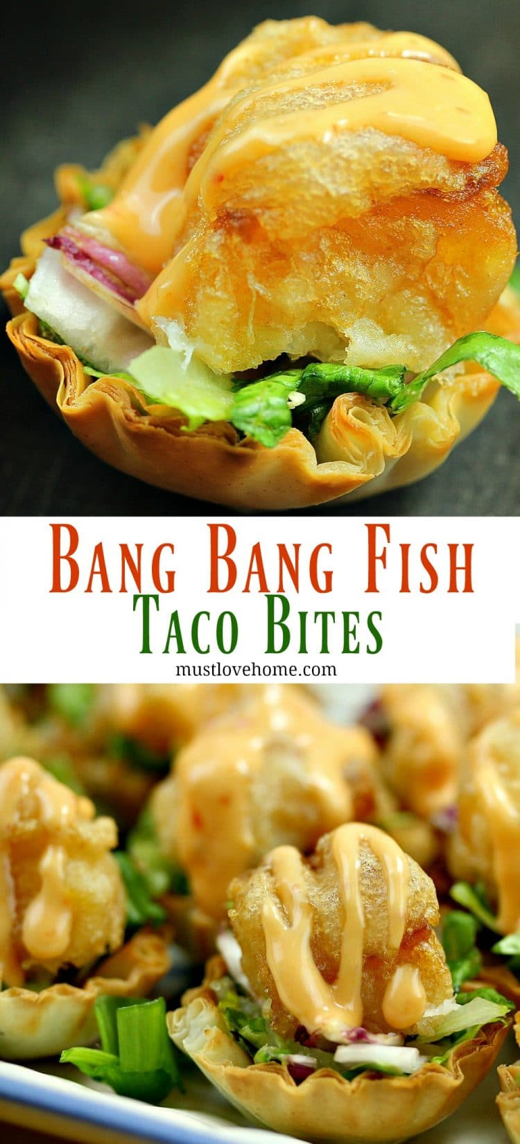 Bang Bang Fish Taco Bites