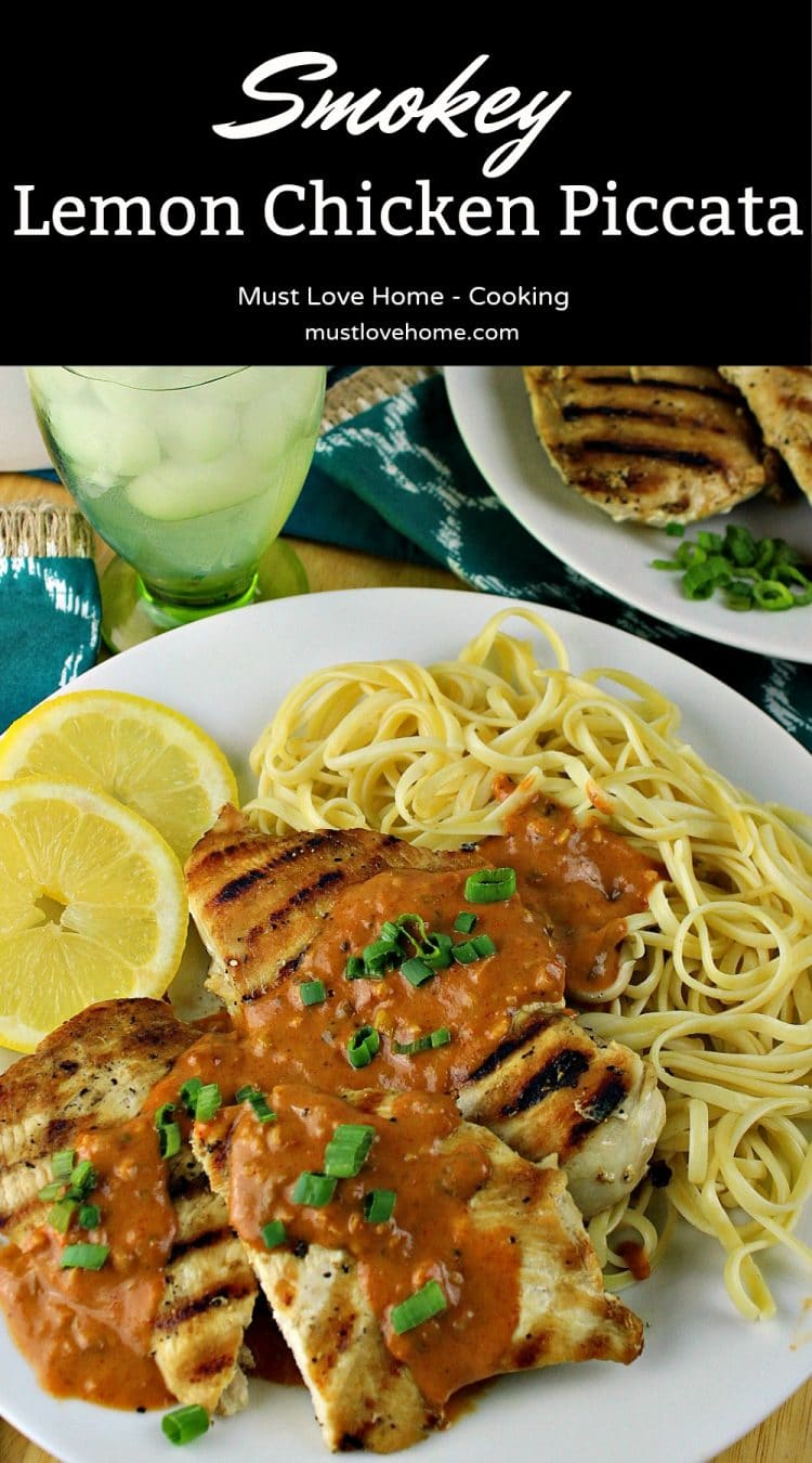 Smokey Lemon Chicken Piccata, a twist on the classic dish, has a creamy smokey tomato sauce that will have your mouth watering. Easy enough for a weeknight dinner and fancy enough for company!