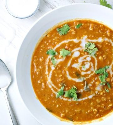 Hearty and healthy, Curry Lentil and Coconut Soup is a vegetarian delight! This soup has amazing flavor, with added tomato, garlic, onion and ginger. This soup is so delicious that meat lovers will be raving too!