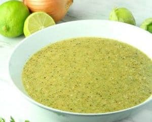 Homemade Zesty Tomatillo and Lime Sauce recipe in under 30 minutes.