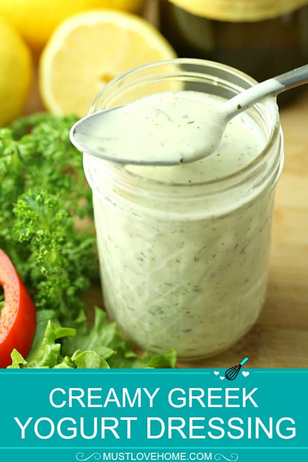 Creamy Herb Greek Yogurt Dressing is tasty, smooth and ready in minutes. This blend of yogurt, herbs, garlic and seasoning is the perfect way to dress up your favorite salads or veggie trays.