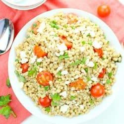 Greek Farro Tomato Salad