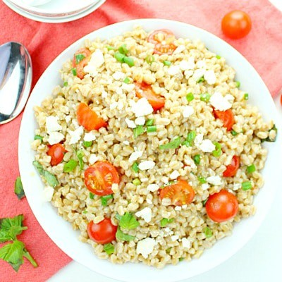Greek Farro Tomato Salad