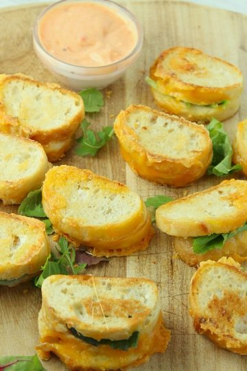20 Minute Mini Grilled Cheese Appetizers