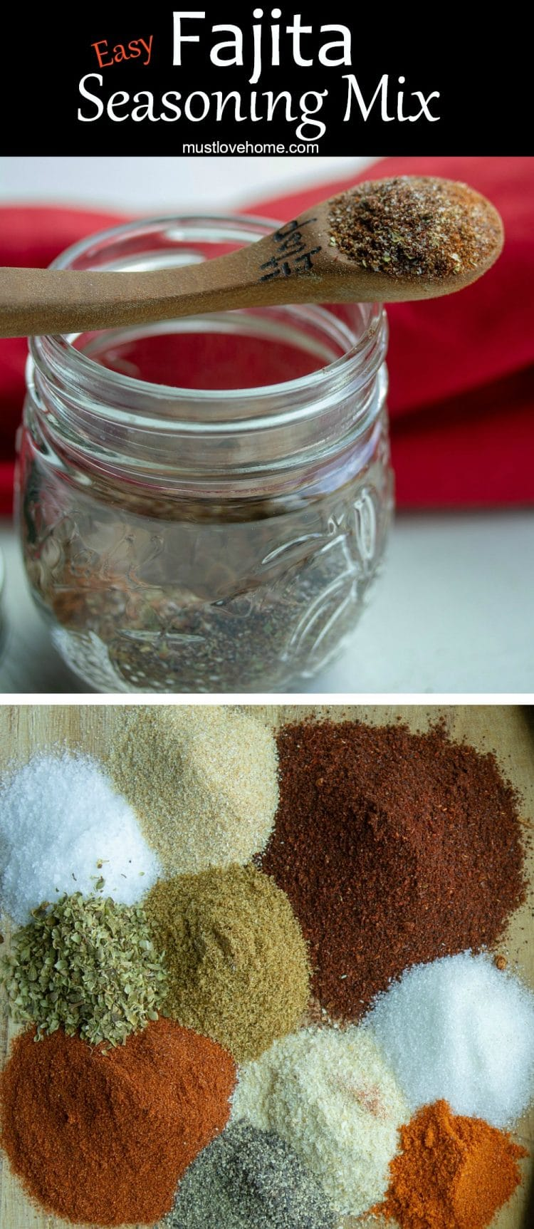 Make your own authentic homemade Fajita Seasoning Mix using this easy recipe and common pantry spices. Great for vegetables too!