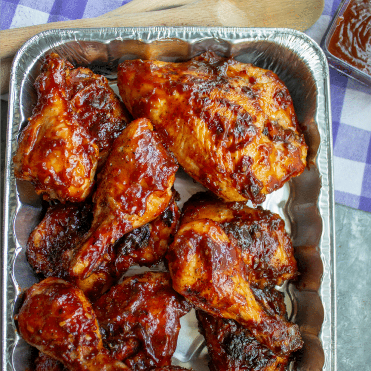 Family Recipe Barbecue Sauce on Chicken