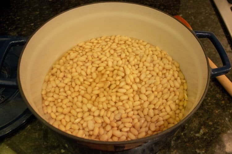 no soak beans cooked in a pot