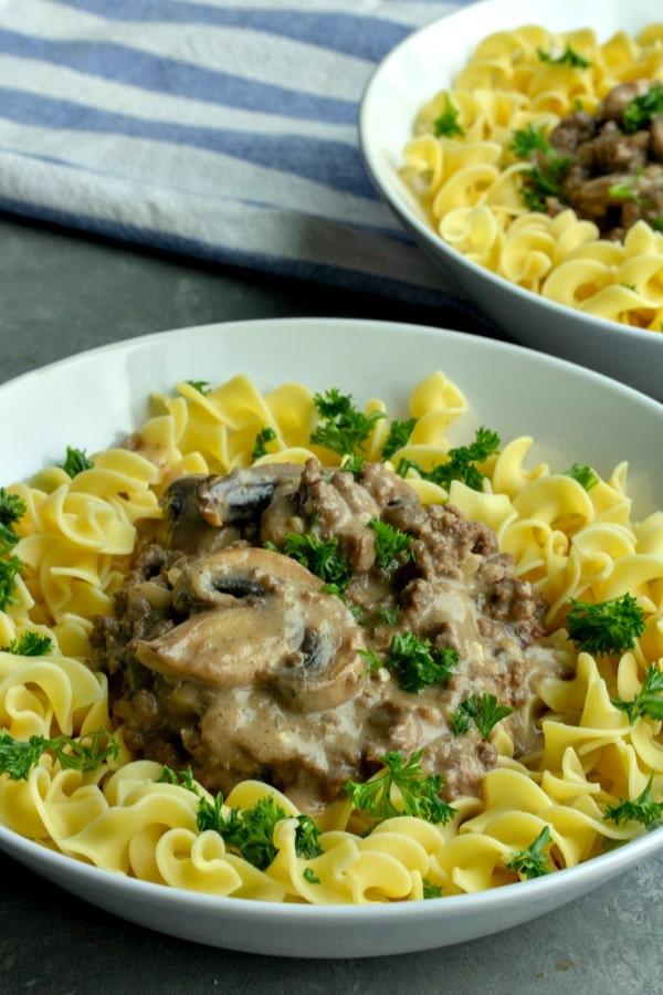 Easy Savory Beef Stroganoff recipe