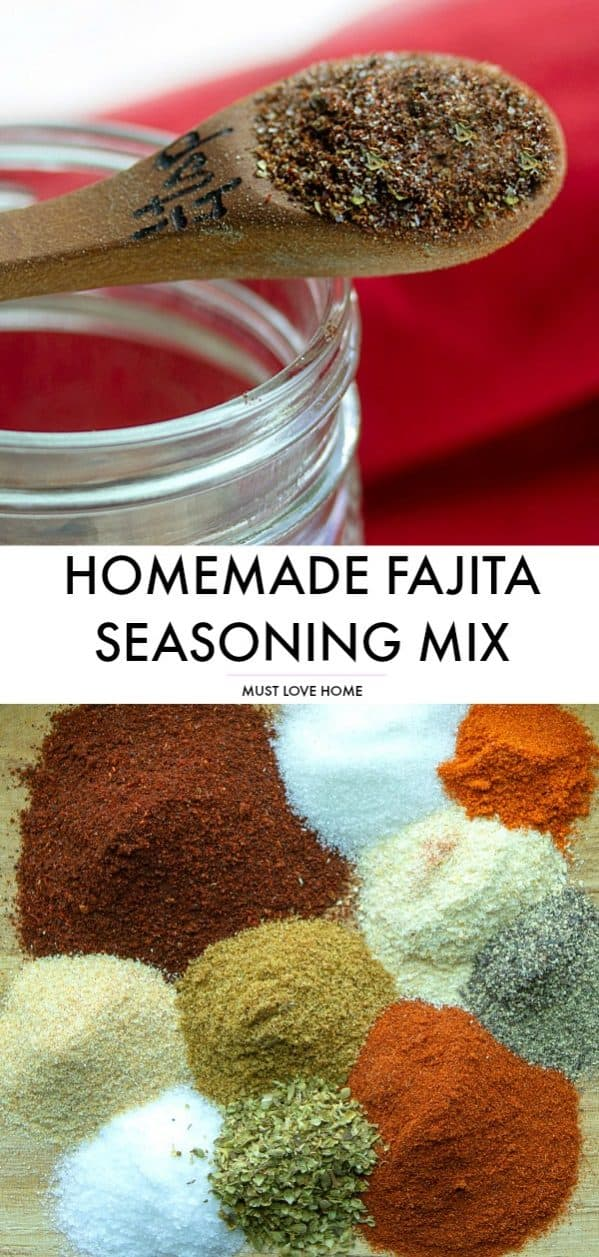 Make your own authentic homemade Fajita Seasoning Mix using this easy recipe and common pantry spices.