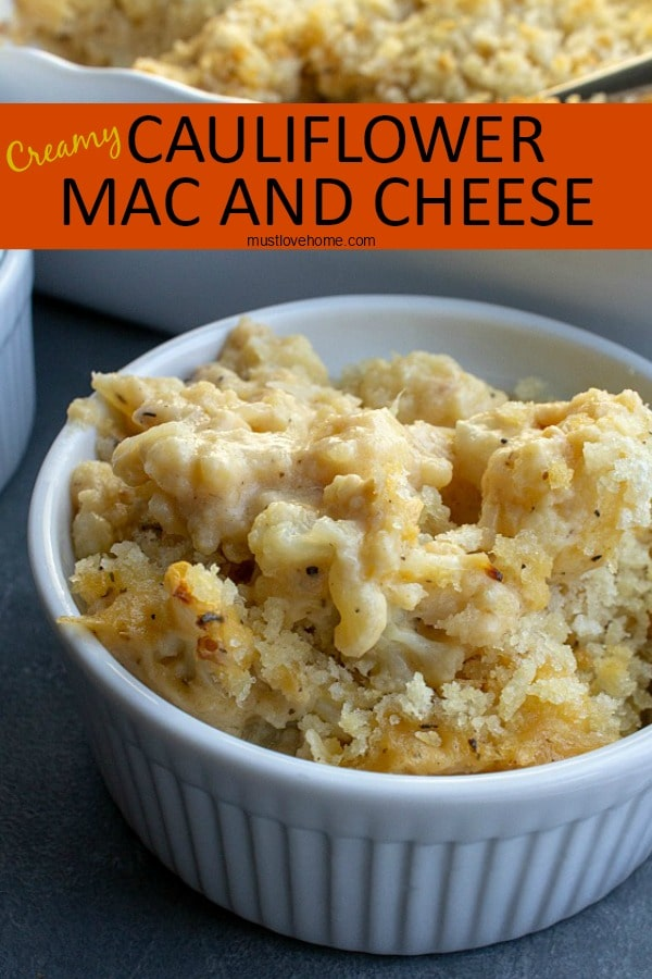 Swap out the carbs in this healthier version of Cauliflower Mac and Cheese. So creamy and cheesy, this dish is just as tasty without the pasta.