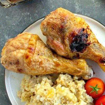 Chicken Drumsticks with Savory Glaze
