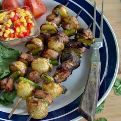 Pork Loin Potato Shish Kebabs