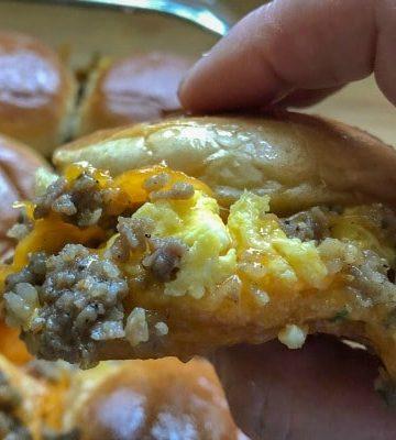 Egg Sausage Breakfast Sliders